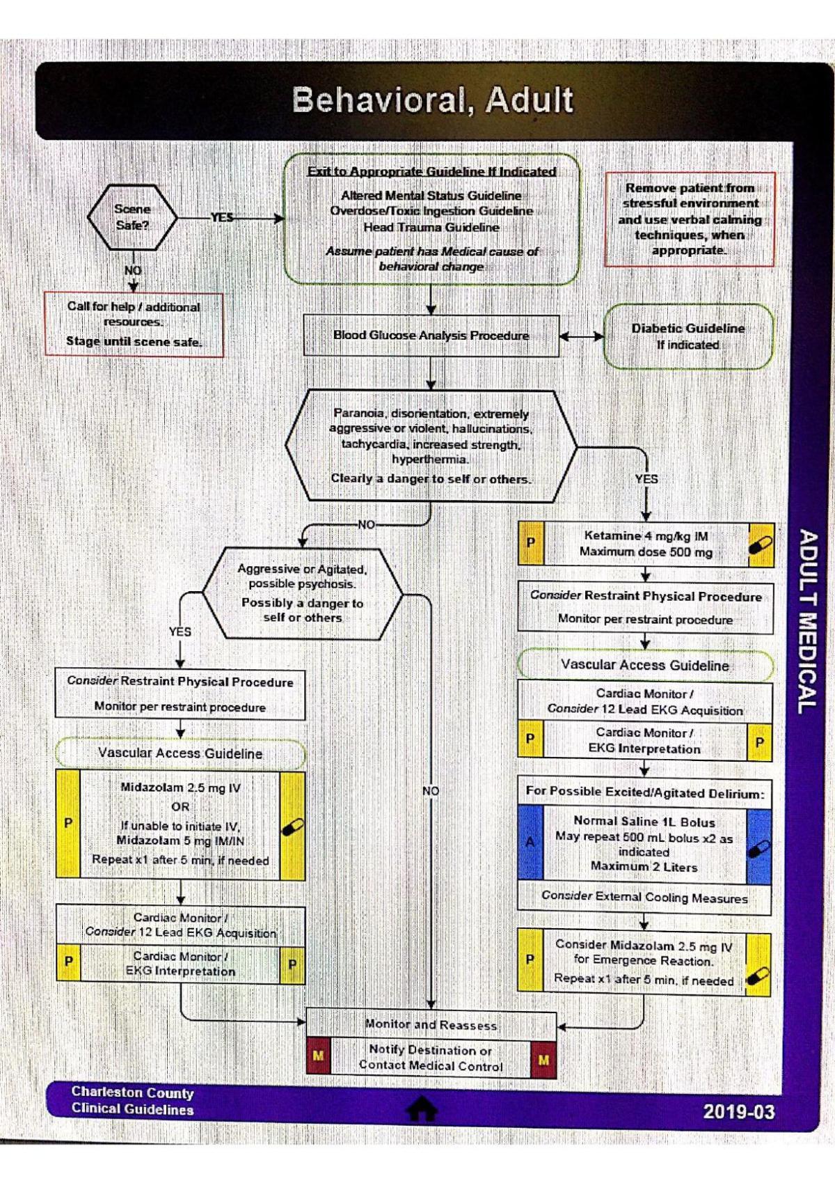 Charleston County EMS Ketamine guidelines