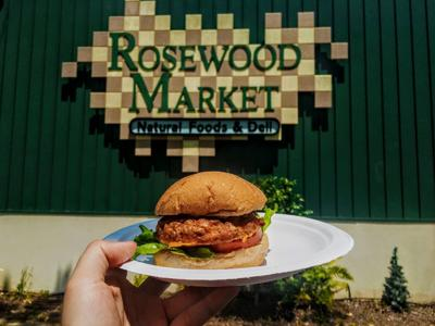 Shrimp Burger at Rosewood Market