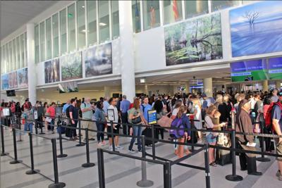Charleston International Airport security checkpoint (copy)