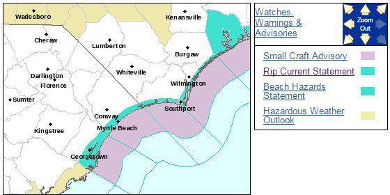 Rip currents predicted Friday along the Carolinas coast