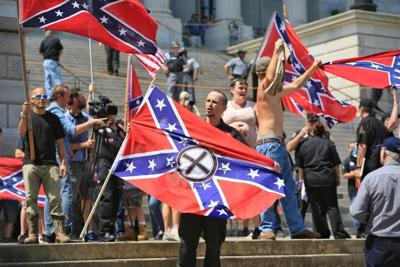 Tempers flare at KKK protest 5 arrests made at Statehouse rally