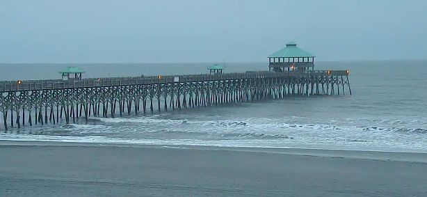 Slight of chance of morning rain in Charleston, then cloudy and breezy