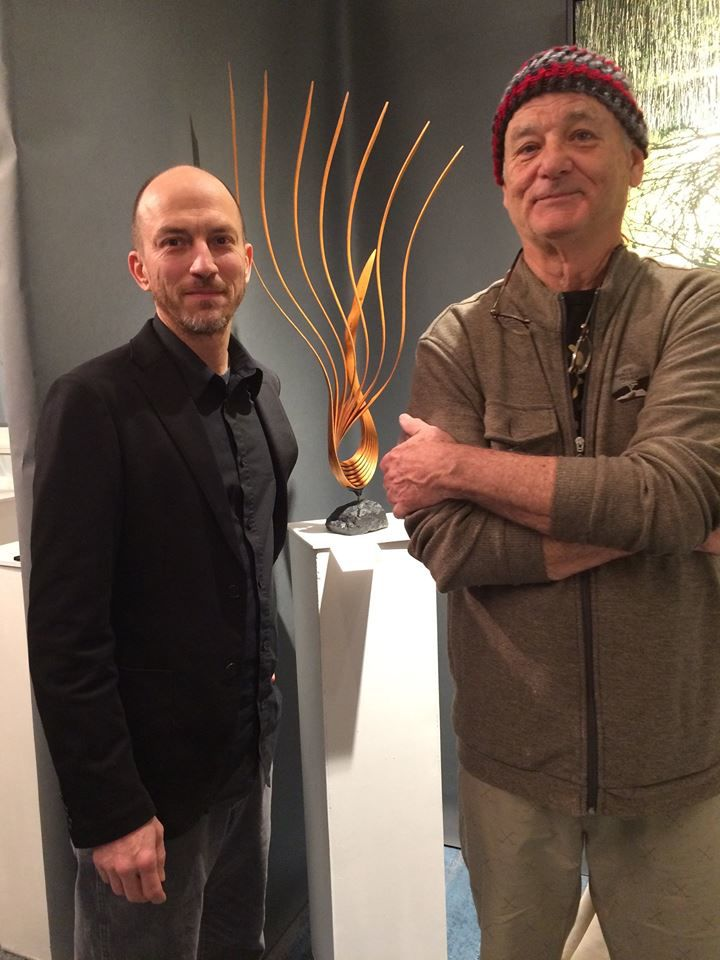 Bill Murray with sculptor