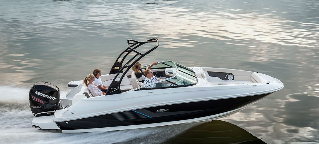 Out reach Sea Ray extends range of power configurations with new 24-foot outboard motor boat