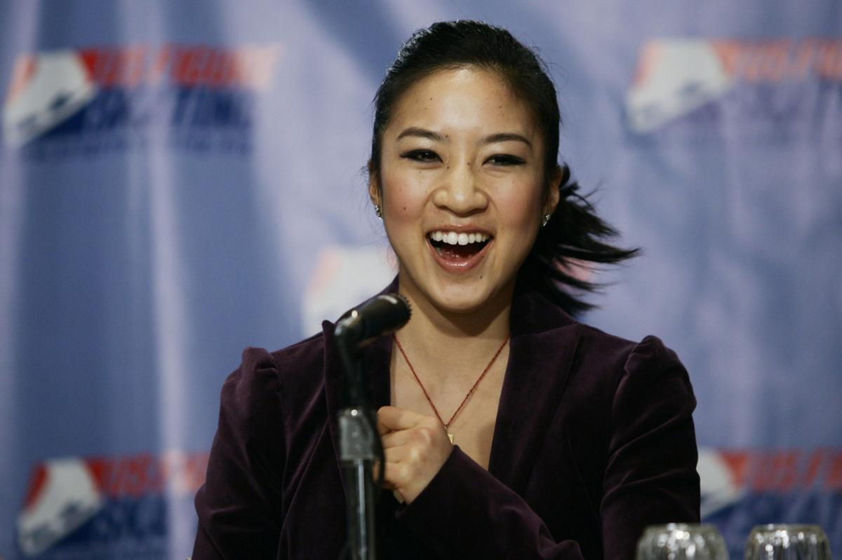 Olympic medalist Michelle Kwan campaigning for Clinton in SC