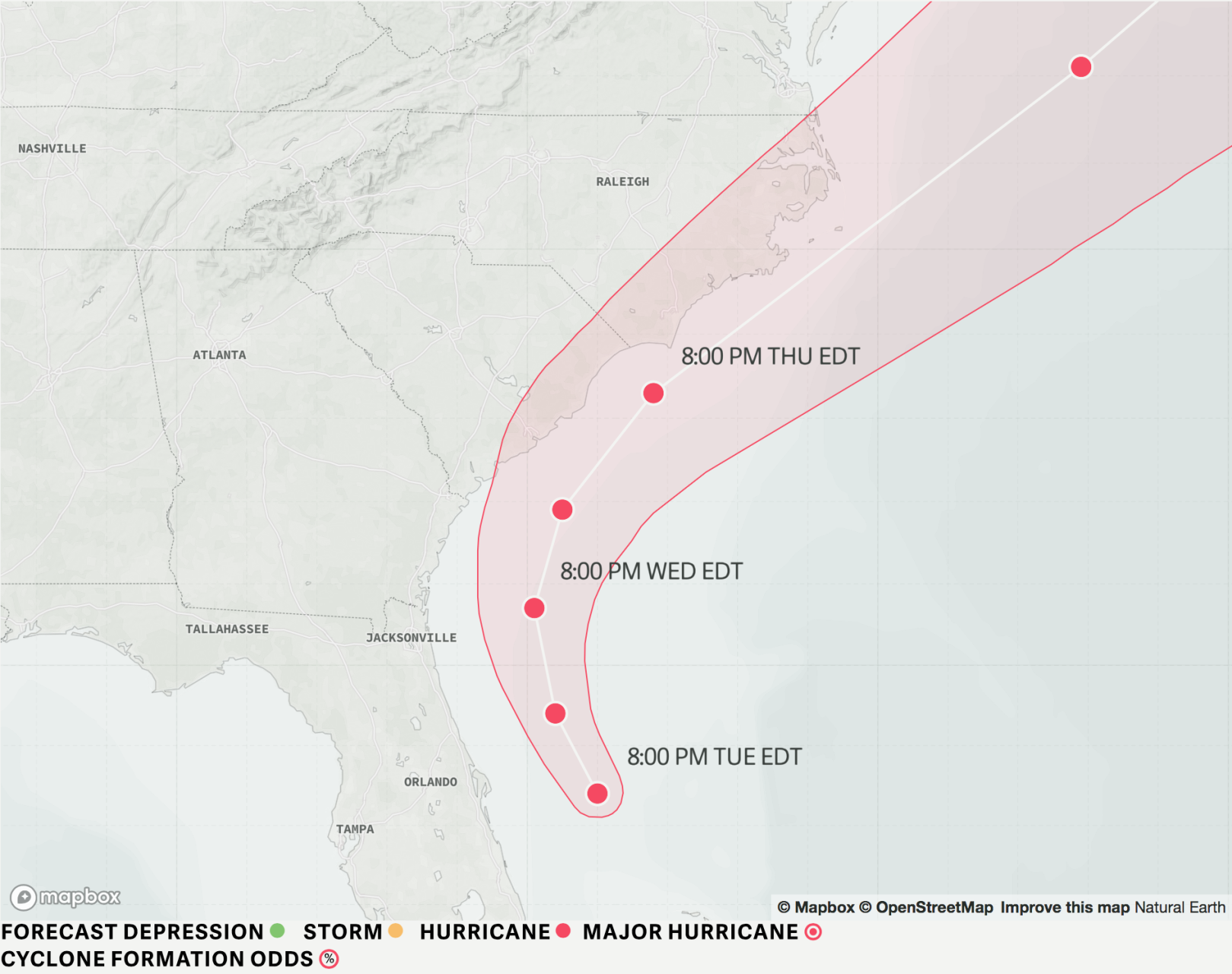 Dorian now larger, SC could see hurricane winds Thursday
