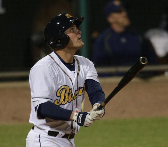 Nick Ciuffo at bat in Montgomery