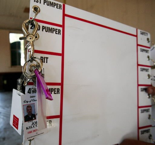 ID tags, board keep track of firefighters