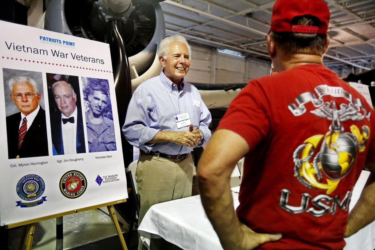 Aboard the Yorktown with 1st Marine Division veterans