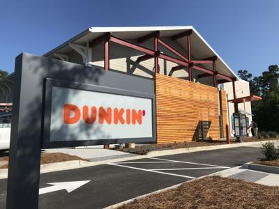 Dunkin' drive thru sign Carnes Crossroads Goose Creek (copy) (copy)
