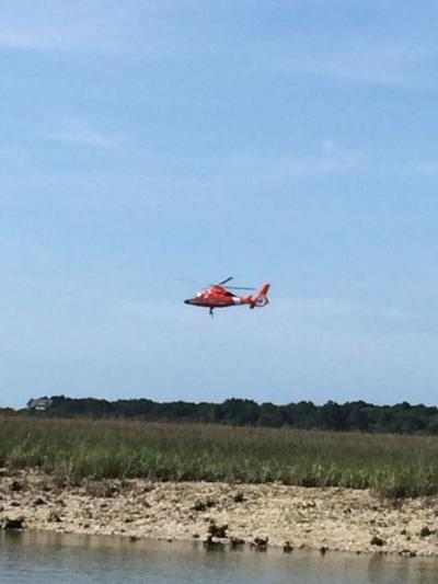 Kayaker rescued from marsh near Capers Inlet