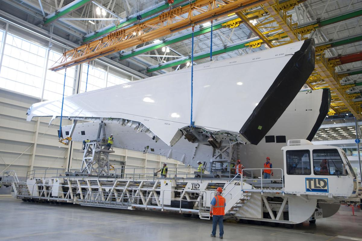 First set of wings for 787 hit town: Next step will be to attach airfoils to a fuselage