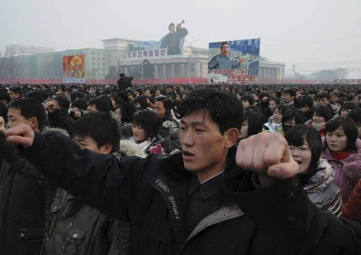 North Korea holds rally, shows young Kim meeting troops