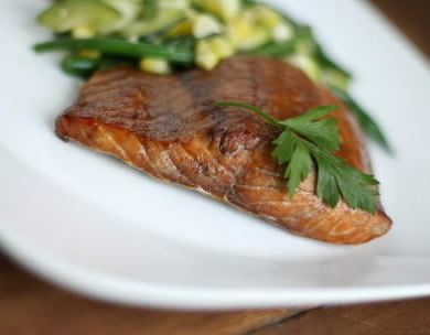 Salmon fillets make for quick and filling meal