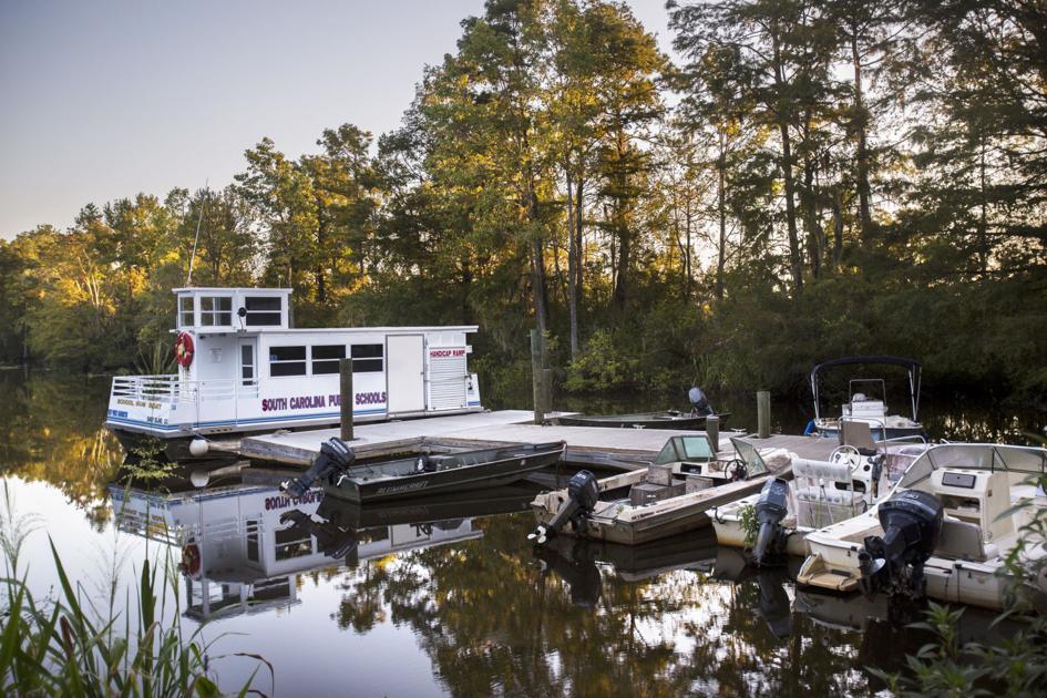 Reaching Georgetown's Sandy Island via SC's only public school boat