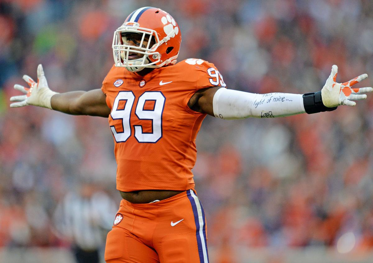 Clelin Ferrell's first Clemson-South Carolina experience was