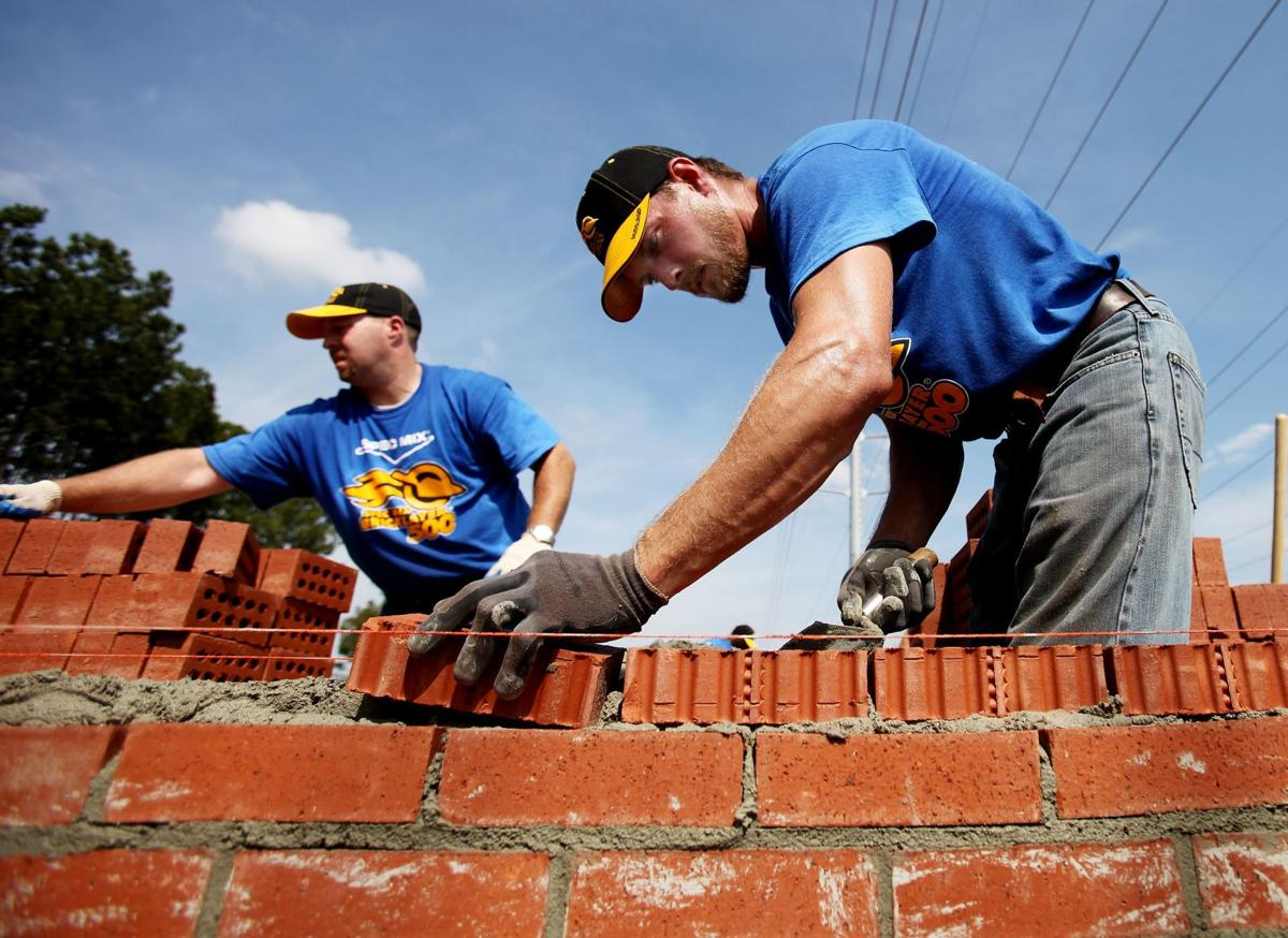 Brick masons do their level best Teams of craftsmen compete for regional title