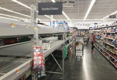 Walmart water shelves