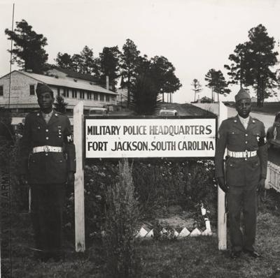 Two MPs at Fort Jackson in the 1950s