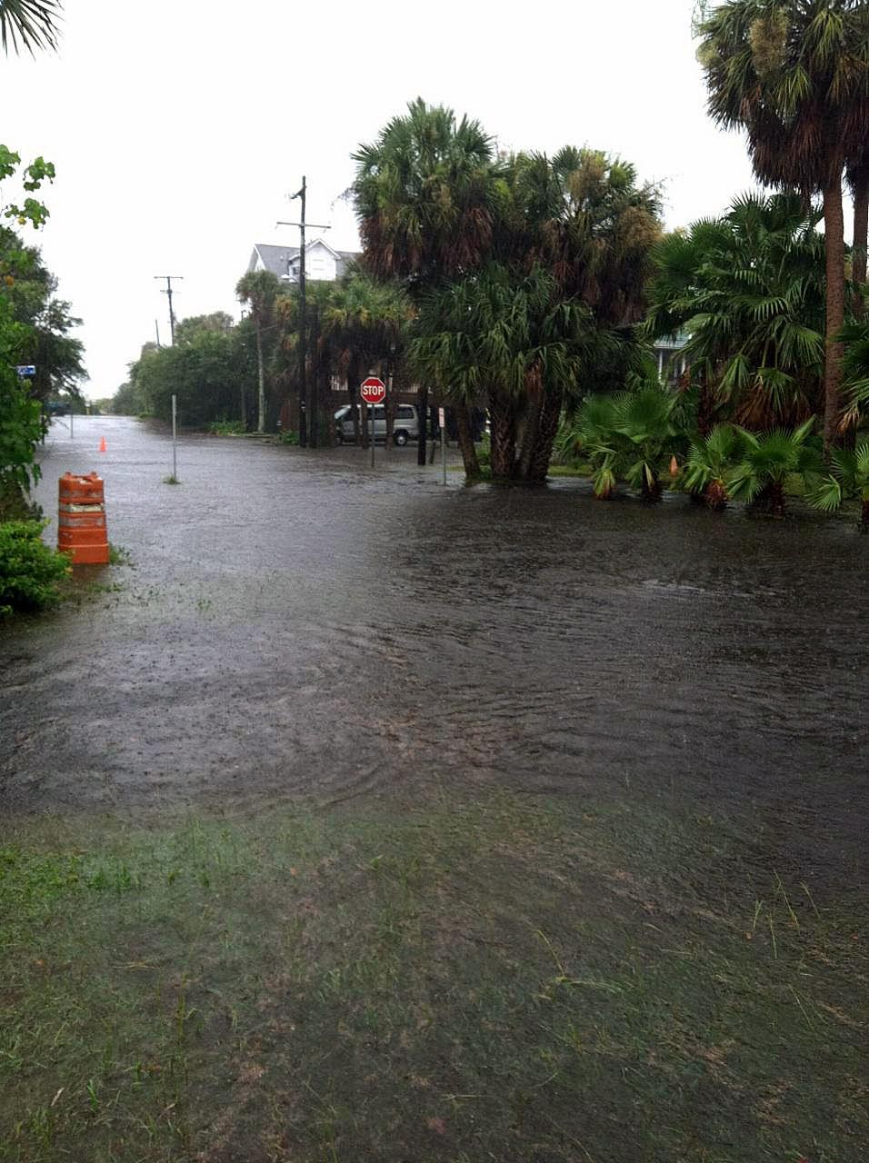 Flooding on Folly Beach
