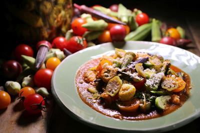 Cookbook: tomatoes and okra from The Grocery (copy)