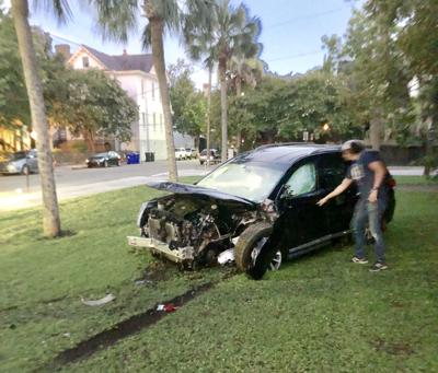 Crashed SUV in Cannon Park (copy)