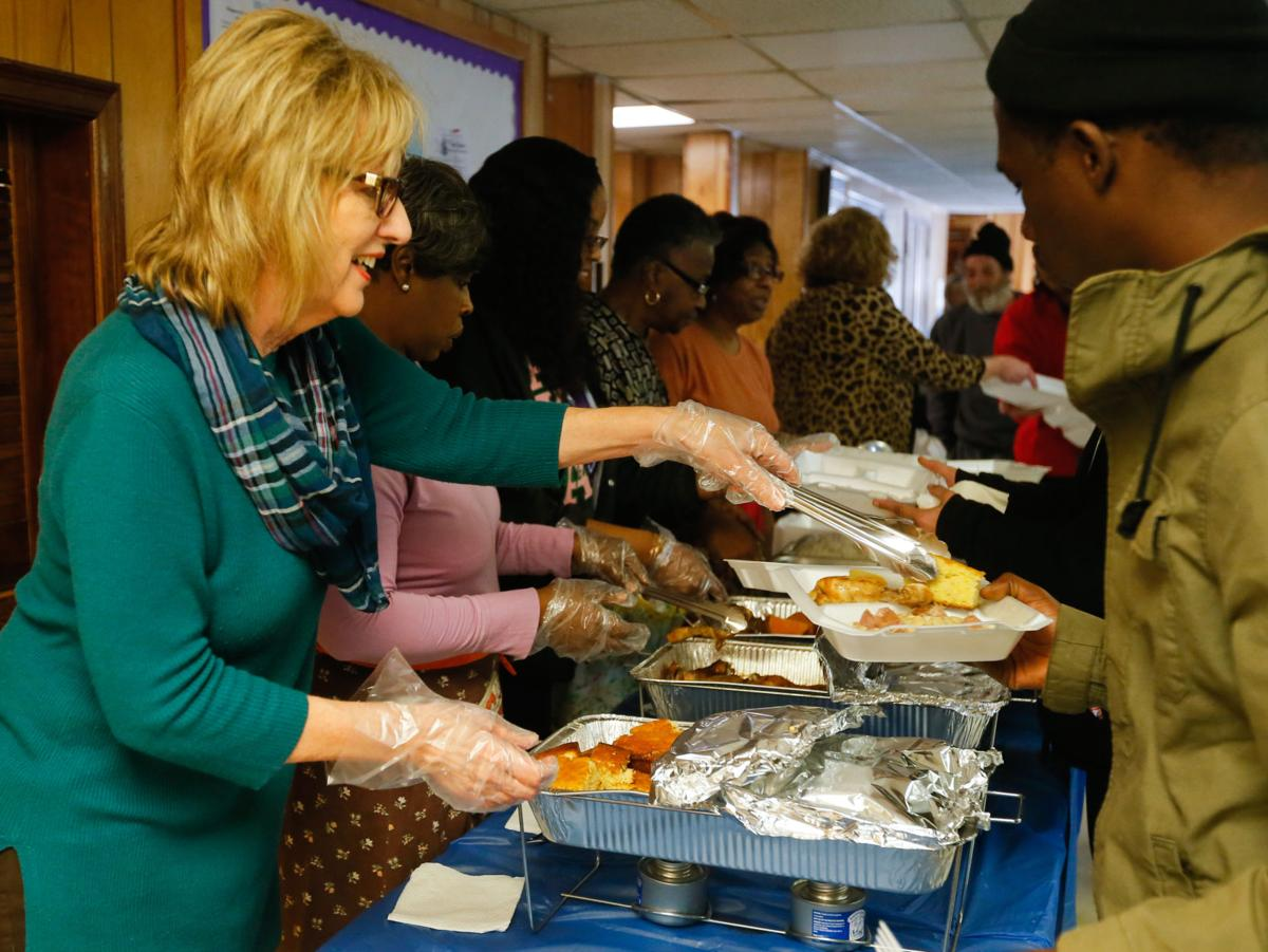 homeless, food and clothes at emanuel