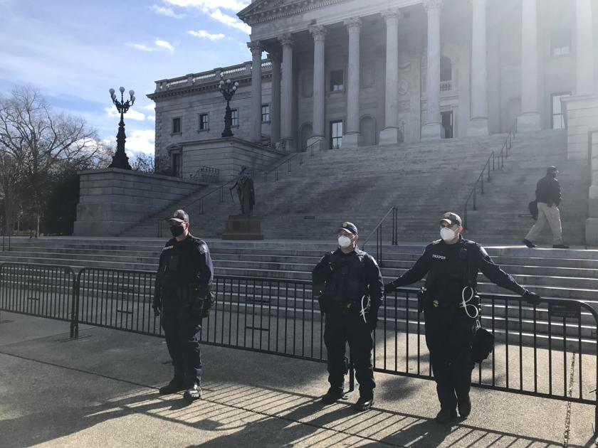 Gun arrest made near SC Statehouse as police watch for possible violent protests