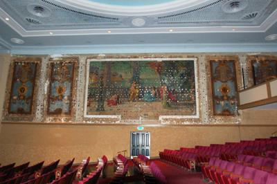 Sottile's hidden gems: Removal of theater's curtains reveals murals of the seven muses from 1927