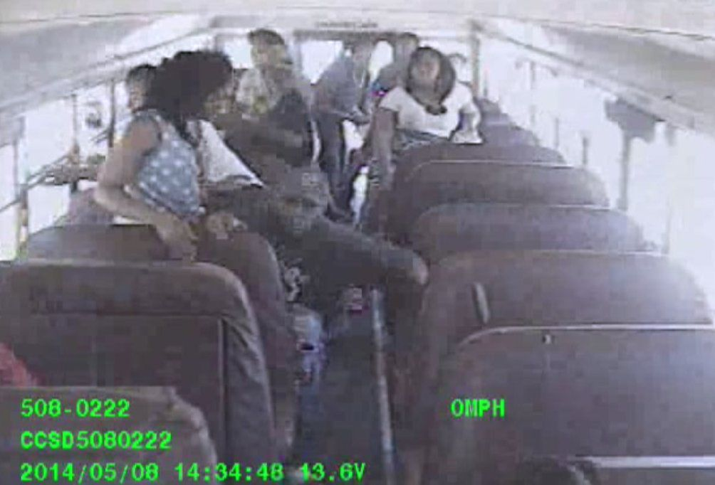 School bus chaos depicted on video