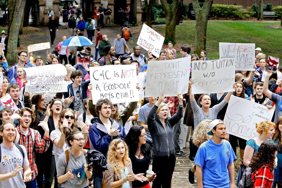 Despite resistance from hundreds, College of Charleston leaders stand by hiring of Glenn McConnell Rights defender targets McConnell Says C?of?C's choice for next president has 'neo-Confederate' past