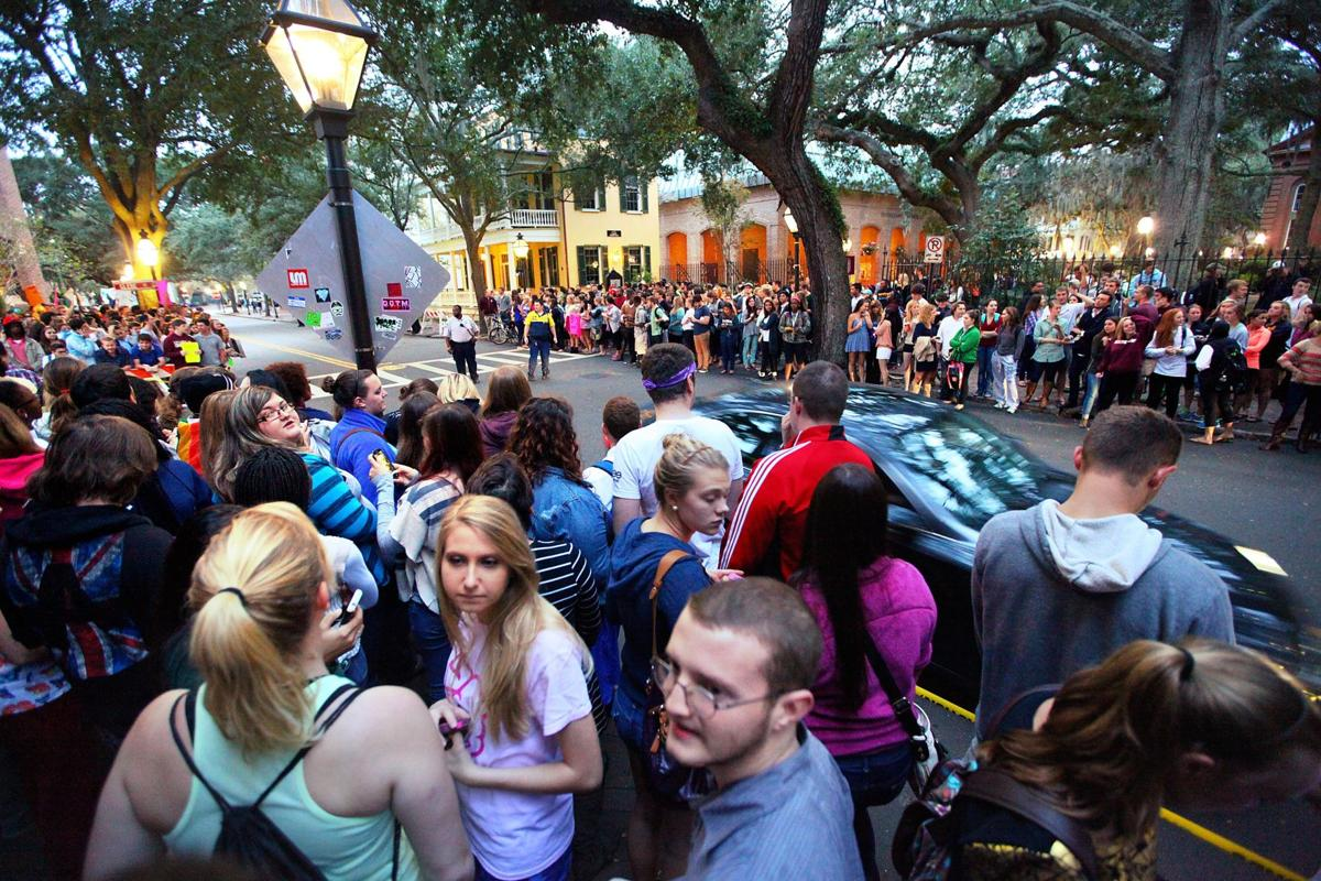 Hundreds turn out at College of Charleston to support mother of gay student who was killed