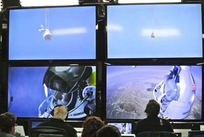 Baumgartner lands safely after skydive from space