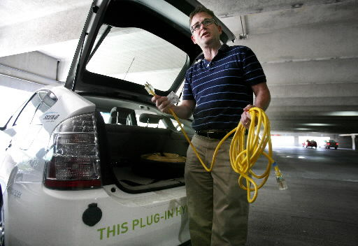 Man charged up about plug-in cars