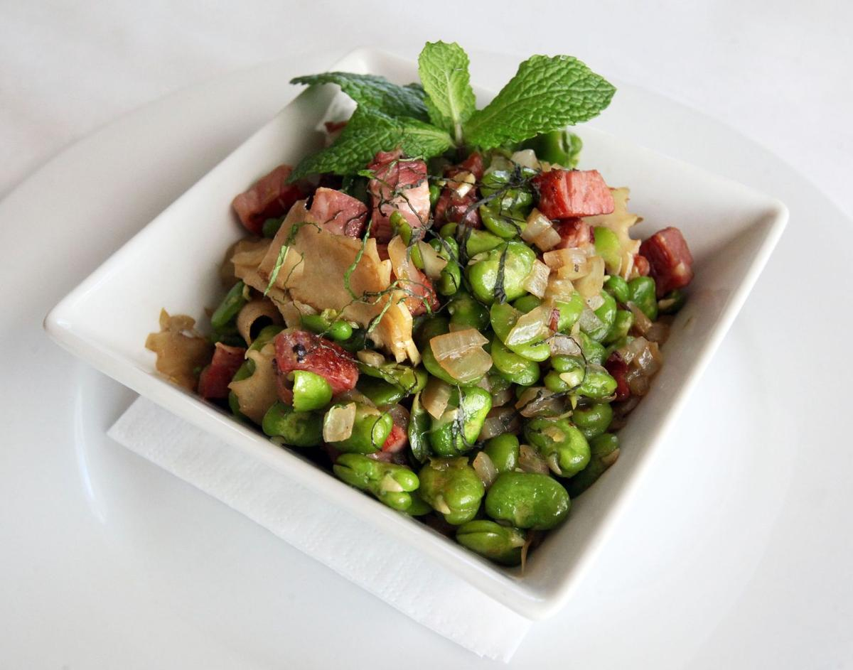Bacco's Fave al Guanicale dish highlights fresh fava beans
