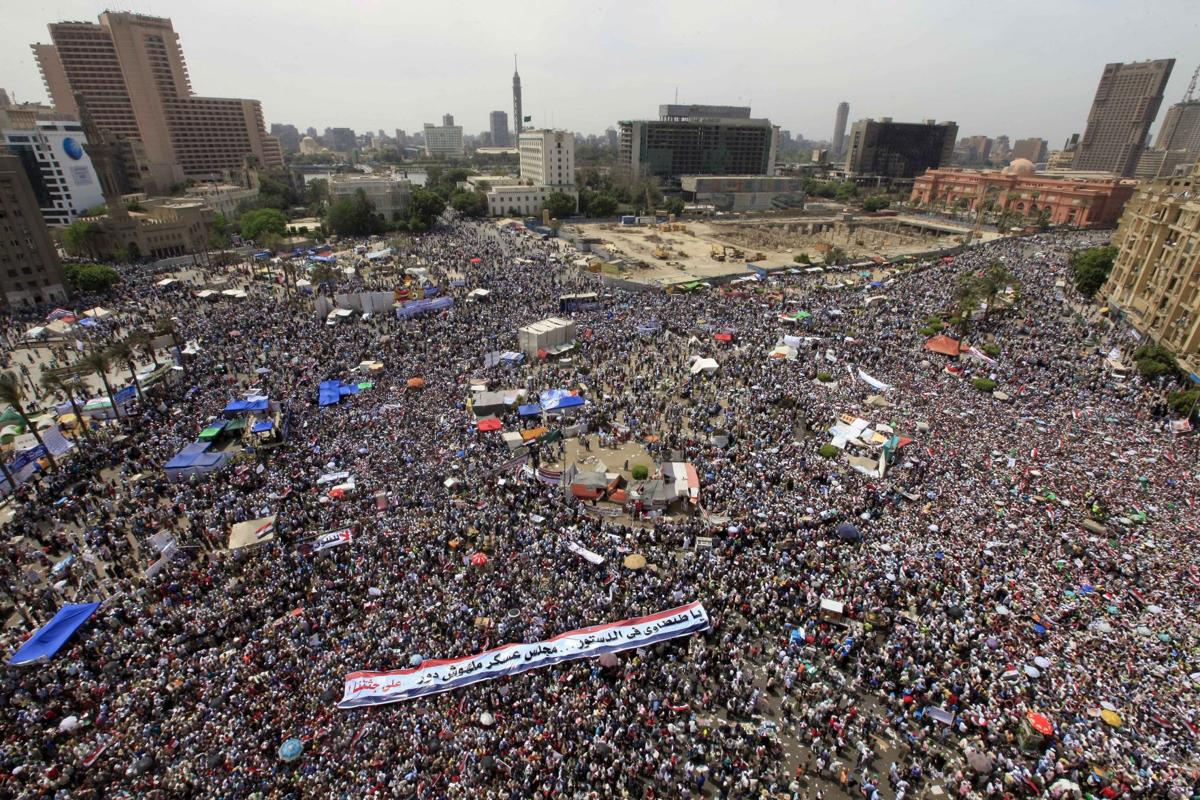 Tens of thousands protest military's rule in Egypt
