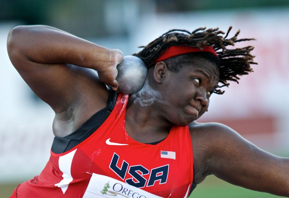 Ex-Burke star Saunders climbs to No. 1 in NCAA shot put