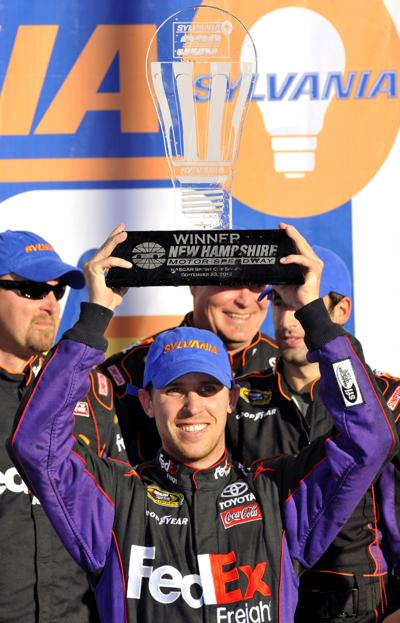 Hamlin prevails at Loudon Johnson grabs lead in Chase for Cup