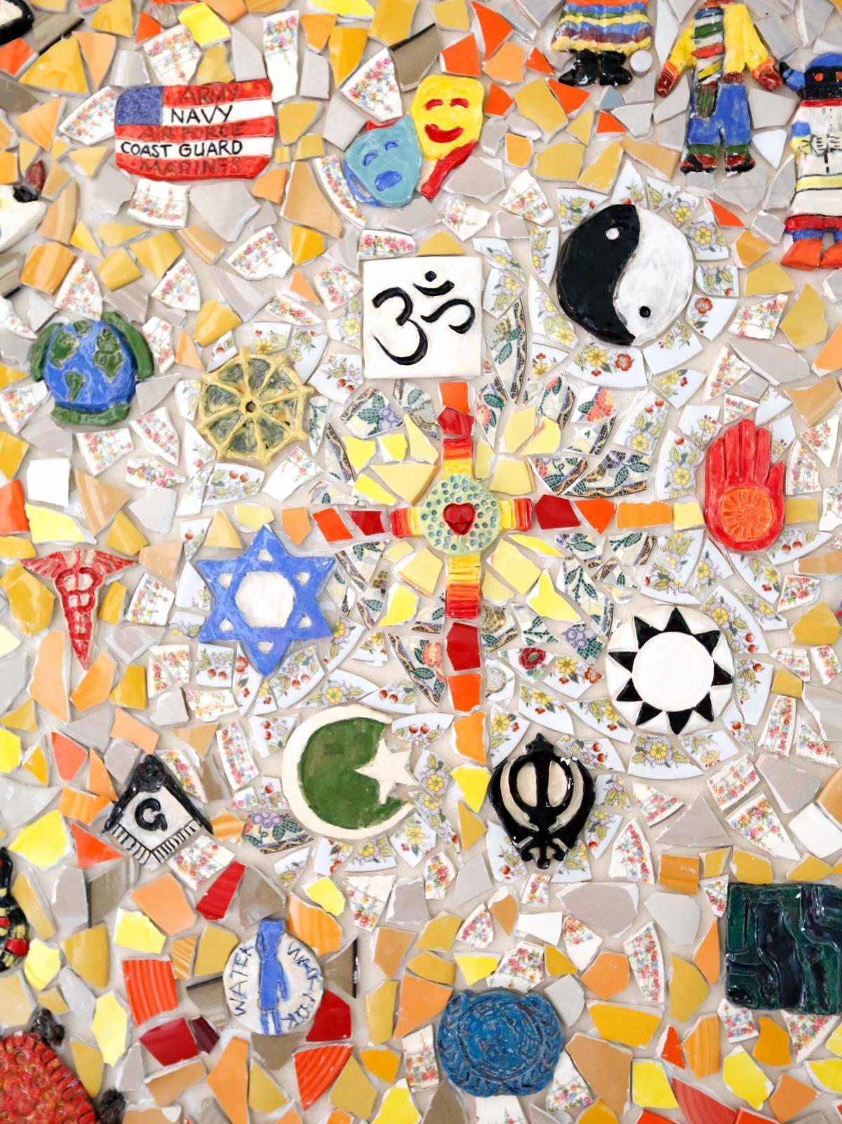 charleston catholic comes together to create colorful