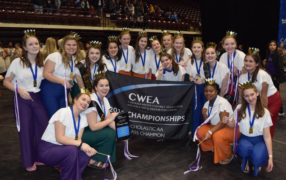 Wando HS WInter Guard celebrates their 2018 CWEA Scholastic AA Championship..jpg