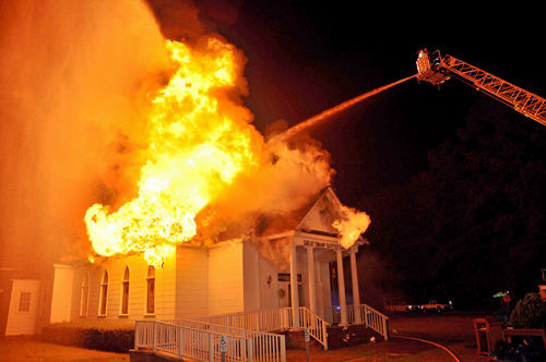 Historic church near Walterboro hit by fire