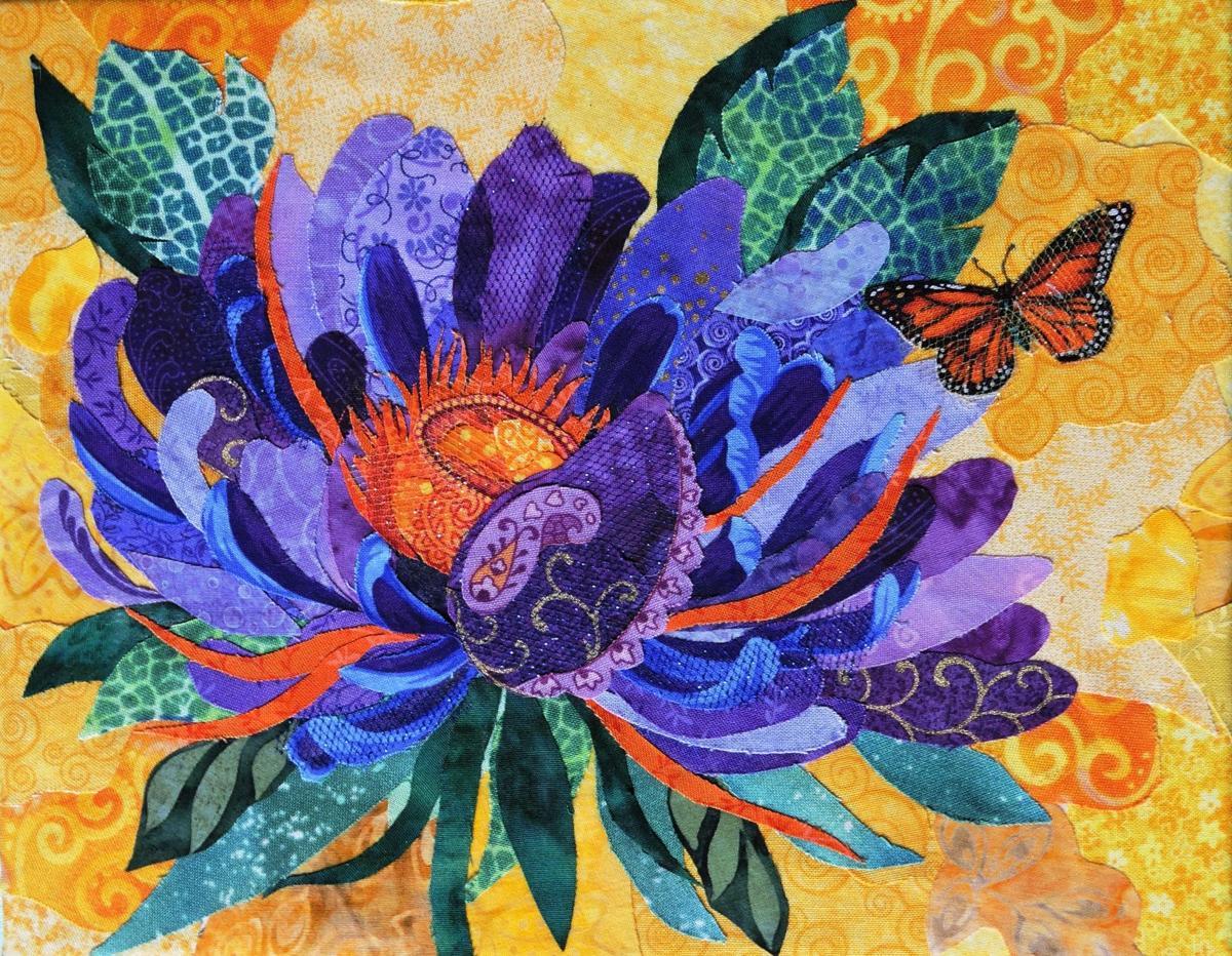 Artist creates eye-catching fabric work