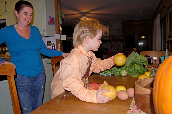 Family pledges to eat locally this year