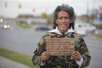 Homeless man's voice prompts job offers