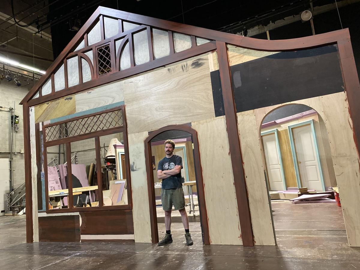 Graham Shaffer Greenville Theatre Hound of the Baskervilles set