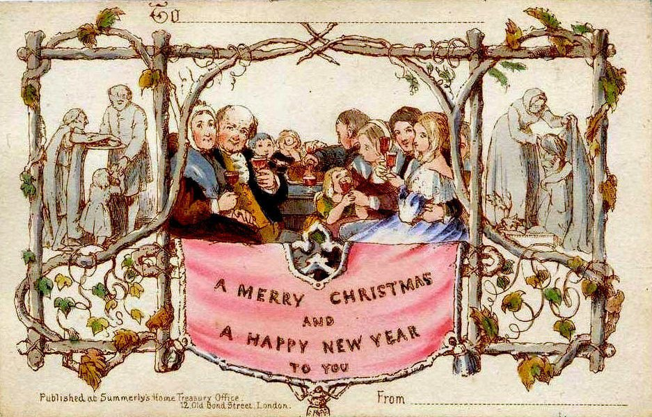 The very first Christmas card