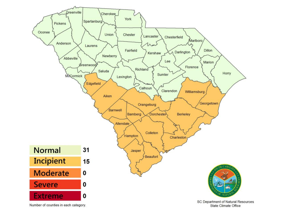 Drought conditions as of 5.14.19
