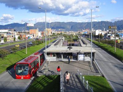BRT in Bogota, Colombia