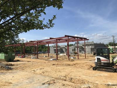 Parker's convenience store under construction in Knightsville on outparcel at ex-Mr. K's