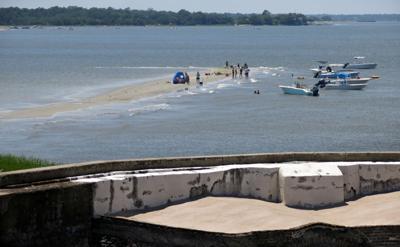 Sandbar at Fort Sumter